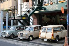 Morris MINI Traveler MK2 (MK1 style/Austin Mini Countryman) , Riley Elf by iPhonebox, via Flickr how funny