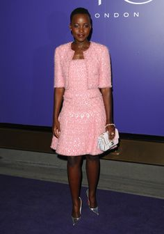 Lupita Nyong'o at the EE British Academy Film Awards nominees party.