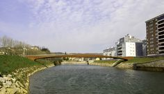 Bicontentio Sinus Footbridge in Martutene (San Sebastián)