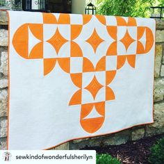 """8 Likes, 1 Comments - Erie Quilt Art Inc. (@eriequiltart) on Instagram: """"Simple and stunning. Persimmon quilt from the creative team of @sewkindofwonderfuljenny…"""""""