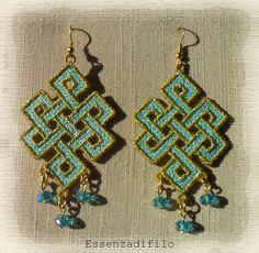 FSL earrings -  machine embroidery