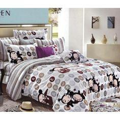 Sivá obliečka na detskú posteľ s kreslenými postavičkami Comforters, Blanket, Bed, Home, Creature Comforts, Quilts, Stream Bed, Ad Home, Blankets