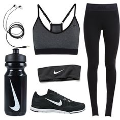 A fashion look from October 2015 featuring NIKE leggings, NIKE sports bras and NIKE shoes. Browse and shop related looks.