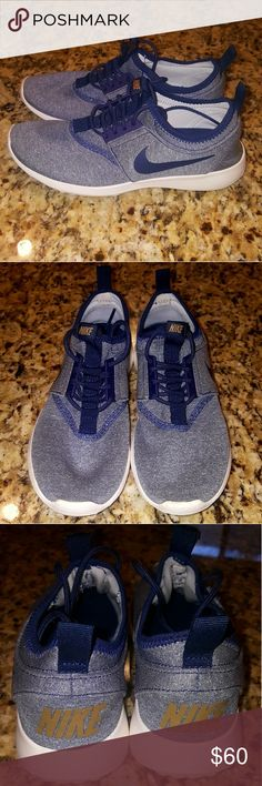 WOMENS NIKE JUVENATE #862335-400 Midnight blue with white sneakers these sneakers were used 2x as you can tell gret condition Nike Shoes Sneakers