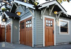 There is nothing more stunningly authentic than our wooden carriage doors. Visit our gallery to see pictures of our carriage house and garage door designs. Carriage House Garage Doors, Wood Garage Doors, Carriage Doors, Garage Door Design, House Doors, Garage Door Colors, Garage Door Styles, Garage House, Car Garage