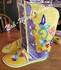 beaded moccs and leggings