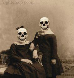 halloween decorations printable vintage | Halloween Decoration, Skeleton Art Print, The Skellies, Altered ...