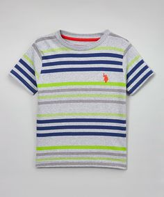 Love this Summer Lime Stripe Tee - Toddler & Boys on #zulily! #zulilyfinds