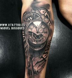 #clock #tattoo #blackwhite