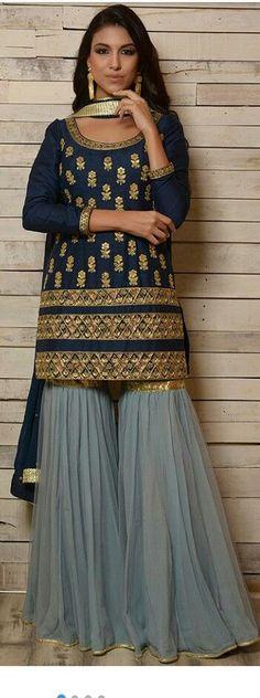 Bridal wear indian color combos mehndi outfit 69 Ideas for 2019 Pakistani Dresses, Indian Sarees, Indian Dresses, Indian Outfits, Pakistani Suits, Emo Outfits, Punjabi Suits, Gharara Designs, Kurta Designs