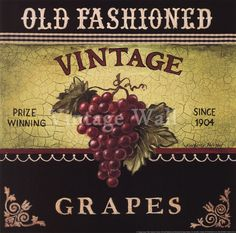 Vintage Grapes by Kimberly Poloson at Vintage Wall