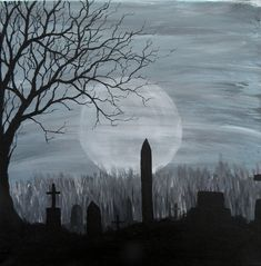 Haunted Cemetery by ~blablover5