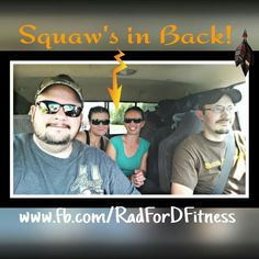 """Woot Woot!  And we are off!  Lol   This made me smile!  This was something that my dad would always say: """"squaw's in back"""" Lol   Let the fun times commence! Giggles included!  Lol   #friends #funtimes #getaway"""