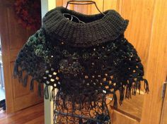 Cowl neckFringed Capelet by SilverFoxxTreasures on Etsy