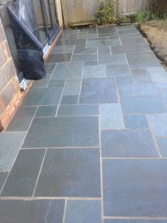 Image result for blue grey stone .patio