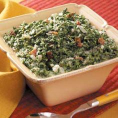 Creamed Spinach with Bacon Recipe | Taste of Home Recipes