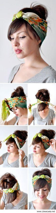 Cool head scarf tutorial