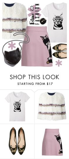 """CAT STYLE"" by tiziana-melera ❤ liked on Polyvore featuring RED Valentino, Kate Spade, MSGM, STELLA McCARTNEY, contestentry and catstyle"