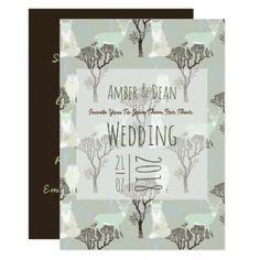 Winter Woodland Animals Wedding Invitations - wedding invitations diy cyo special idea personalize card