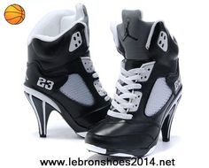 eef644f901fb Buy Women s Nike Air Jordan 5 High Heels Shoes Black White Discount from  Reliable Women s Nike Air Jordan 5 High Heels Shoes Black White Discount  suppliers.