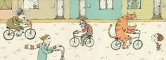 Instrucciones para caer de la bicicleta. Illustration. Valeria Gallo.
