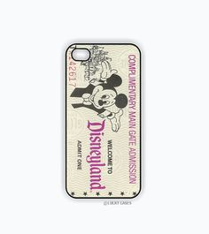 Disneyland Ticket iPhone 5c Case, iPhone Case