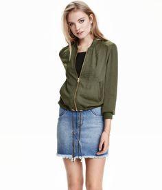 Pilot Jacket | Khaki green | Ladies | H&M US