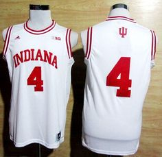Hoosiers #4 Victor Oladipo White Big 10 Patch Basketball Embroidered NCAA Jersey prices USD $20.50 #cheapjerseys #sportsjerseys #popular jerseys #NFL #MLB #NBA