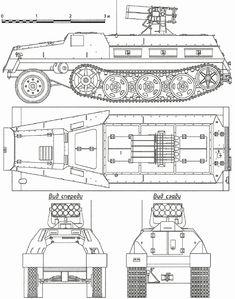 Schwerer Wehrmachtschlepper Blueprint - Download free blueprint for 3D modeling
