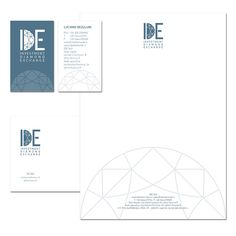 IDE investment diamond exchange - branding and corporate identity - © Giulia Riva Art