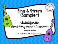 FREE This sampler is a small part of a growing bundle. Sing & Strum was developed based on my experiences teaching ukulele to elementary students. The sampler contains a few resources to give buyers a taste of the larger product.  The Bundle includes ukulele basics, chords, strumming patterns, and over 50 folk songs.
