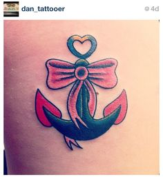 Bow & anchor tattoo. *love*