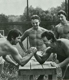 Central Red Army Training Camp | Fetisov arm wrestles Kasatanov while Larionov observes.