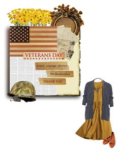 """""""Veterans Day - 2016"""" by savagedamsel ❤ liked on Polyvore featuring Thos. Moser, H&M, WearAll, Miss Selfridge, country, USA, American, 2016, veteransday and plus size clothing"""