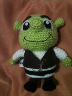 Amigurumi Shrek y Fiona Animal Knitting Patterns, Stuffed Animal Patterns, Doll Patterns, Crochet Patterns, Crochet Dolls, Crochet Baby, Shrek E Fiona, Amigurumi For Beginners, Crochet Disney