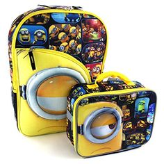 ce5caf9f95 Buy Despicable Me Minions 16 inch Backpack and Lunch Box Set (Minions Black)