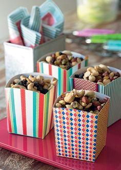 O mix de nuts ficou muito mais charmoso em porções individuais
