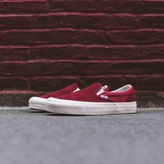 ad6aa41a22 Vans Vault OG Classic Slip-On LX - Sun Dried Tomato   Mineral Red