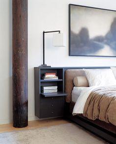 #bedroom #white & black #bed design// Deborah Berke & Partners Architects