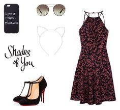 """""""Shades Of You"""" by rachelsdescription on Polyvore featuring Glamorous, Christian Louboutin, Prada and Cara"""