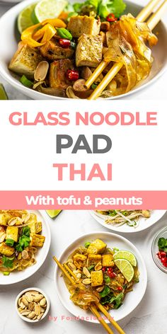 In our quick and easy pad woon sen recipe, glass noodles, crispy tofu and crunchy veggies come together into a mouthwatering Thai-style stir-fry. glass noodle pad thai,pad woon sen recipe,thai glass noodles,cellophane noodle recipes,pad thai with tofu,eggless pad thai #vegan #govegan #dairyfree #glutenfree #recipe #cooking #food Noodle Recipes, Thai Recipes, Asian Recipes, Pad Woon Sen Recipe, Cooking Food, Food Food, Tofu Pad Thai, Thai Vegan