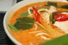 myfoodpassion.net - red curry suppe med laks og nudler