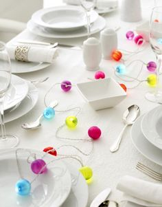 BAUBLE STRING LIGHT  Light up your table with these colourful baubles