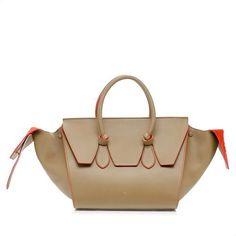 02a84f1879b Celine Small Tie Tote   Beige with Orange Alcantara Interior   Fall 2013 Celine  Handbags,
