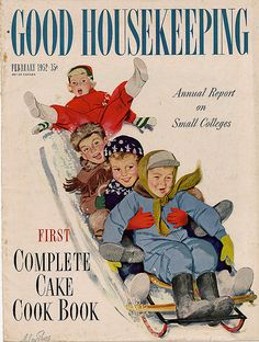 February 1952 - Good Housekeeping 'Annual Report on Small Colleges' - Art by Alex Ross