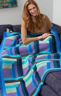Log Cabin Crochet Pattern - MIKEY'S BLOG, RED HEART FREE PATTERN