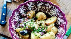 Potatissallad med senapdressing och kapris