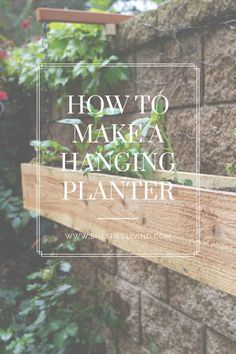 use fence boards and scrap lumber to create this hanging planter box Hanging Planter Boxes, Fence Boards, Shed, Scrap, Backyard, Create, How To Make, Yard, Backyard Sheds