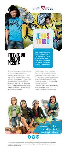 La newsletter della linea Junior di FiftyFour