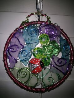 Lady bug sun catcher by LaurelcreationsArt on Etsy
